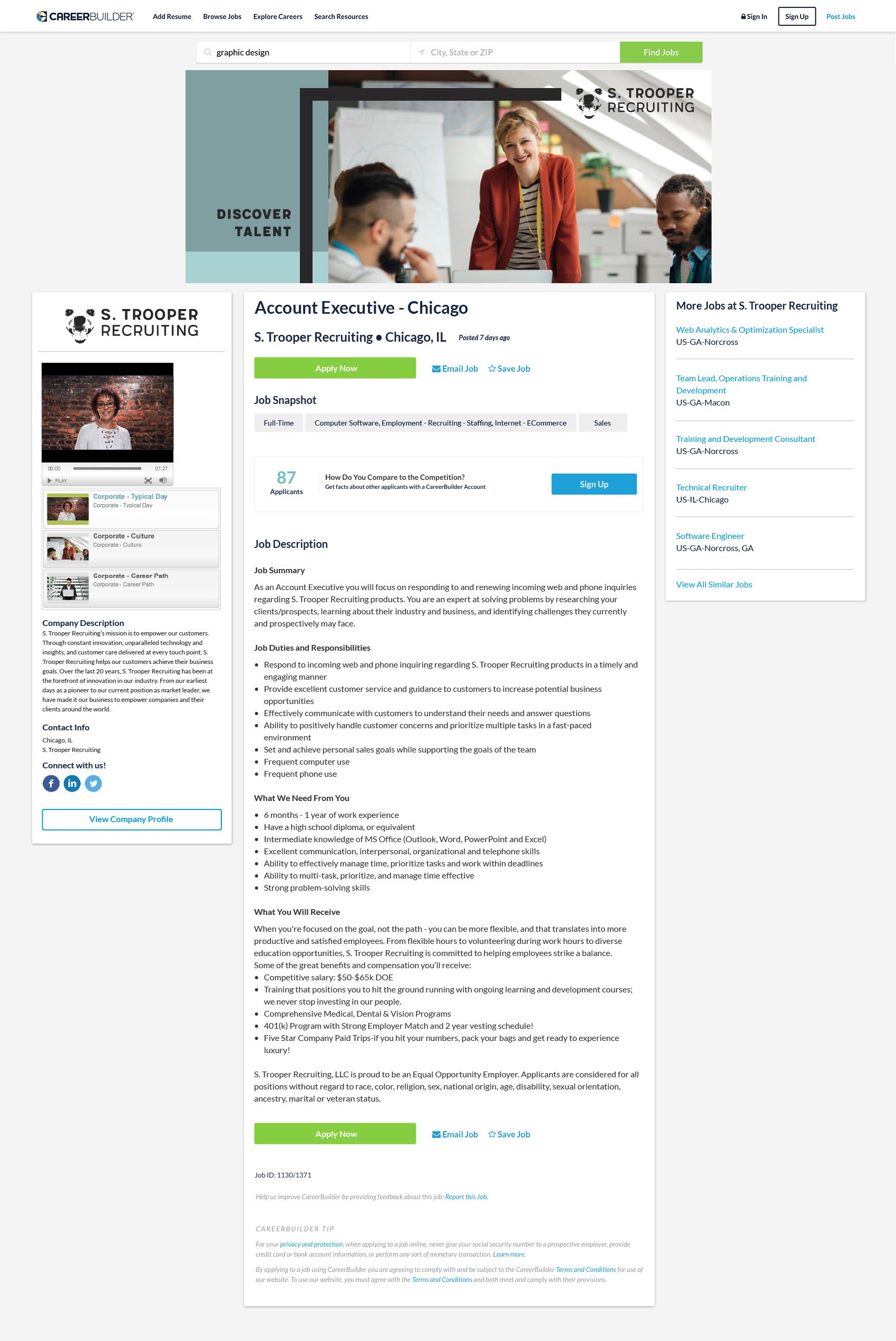 Premium Job Postings